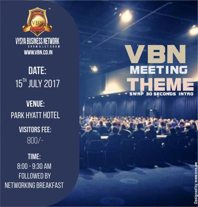 VBN Meeting - 15 July 2017