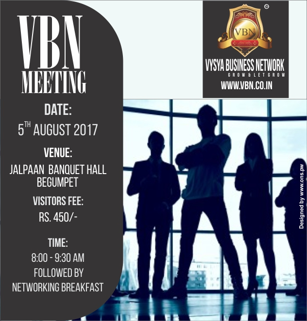 VBN Meeting - 5th Aug 2017