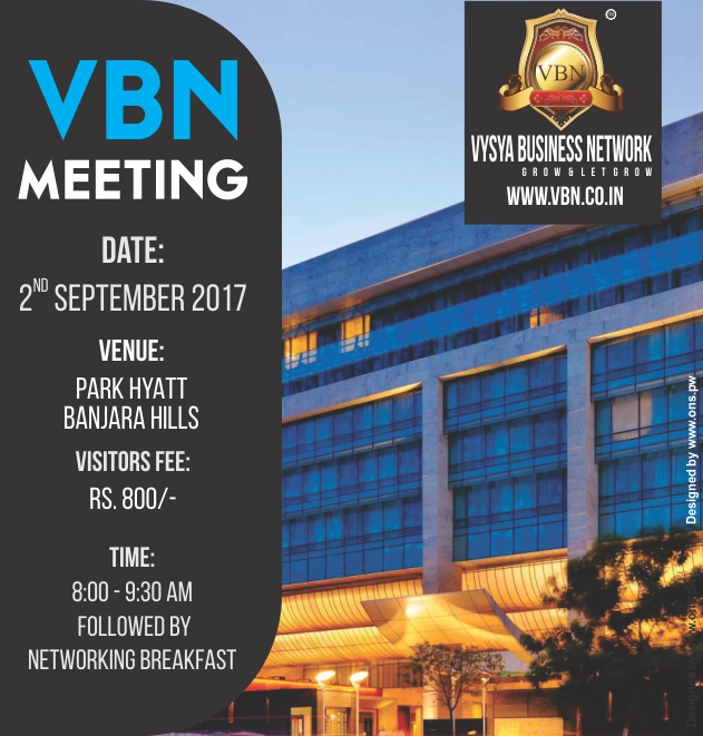 VBN Meeting - 02 September 2017