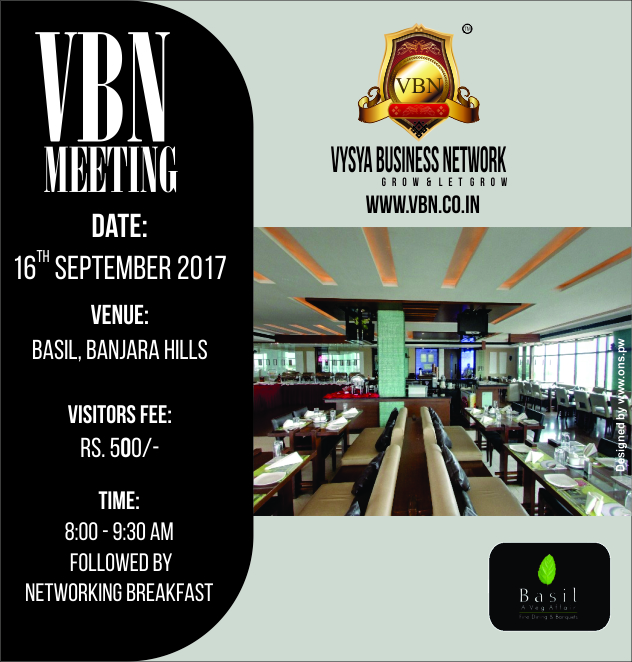 VBN Meeting - 16 September 2017